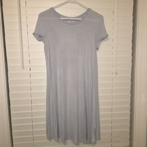 NEW Blue Striped T-Shirt Dress
